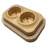 QK2-0 - Рамка деревянная Quteo Контур сдвоенная для серии Legrand Кутео