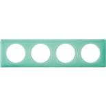 066644 - Рамка 4-постовая Legrand Celiane, прямоугольная, 303х82мм (бирюзовый муар)