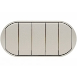 068311 - Лицевая панель для выключателя/переключателя с 5 клавишами, Legrand Celiane (титан)