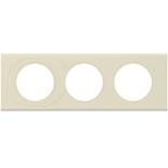 069433 - Рамка 3-постовая Legrand Celiane, прямоугольная, 242х83мм, кожа (макиато)