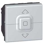 079226 - Выключатель для управления приводом жалюзи, Легран Мозаик (алюминий)
