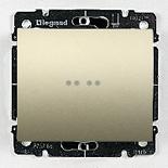 771434 + 775600 - Выключатель одноклавишный с подсветкой Legrand Galea Life, 10А (титан)