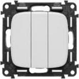 752003 + 755035 - Выключатель трехклавишный Legrand Valena Allure (белый)