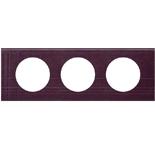 069443 - Рамка 3-постовая Legrand Celiane, прямоугольная, 242х83мм, кожа (пурпур)