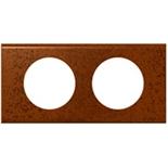 069262 - Рамка 2-постовая Legrand Celiane, 171х82мм, металл (патина феррум)