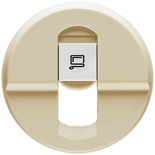 066235 - Лицевая панель для розетки RJ45, Legrand Celiane (слоновая кость)