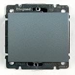 771310 + 775801 - Выключатель одноклавишный простой Легранд Галеа Лайф, 10А (Алюминий)