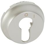 068309 - Лицевая панель для двухпозиционного выключателя с ключом, Legrand Celiane (титан)