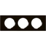 069303 - Рамка 3-постовая Legrand Celiane, 242,5х82мм, стекло (смальта графит)