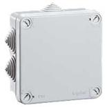 092137 - Коробка распределительная IP55 (влагозащищённая) квадратная, 105х105х55 мм, 7 кабельных вводов (с уплотнителями),  Legrand Plexo