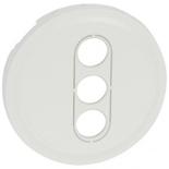 068213 - Лицевая панель для аудио/видео розетки RCA на 3 выхода, Legrand Celiane (белая)