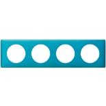 068774 - Рамка 4-постовая Legrand Celiane, прямоугольная, 303х82мм (лазурный пунктум)