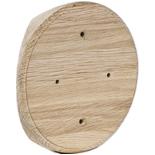 SV1-260-D - Накладка на бревно Ø260мм, для распределительной коробки/светильника с диаметром основания до 120мм, круглая (дуб)