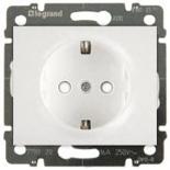 777021 + 775920 - Розетка электрическая со шторками и автоматическими клеммами, Legrand Galea Life, 16А (белый)