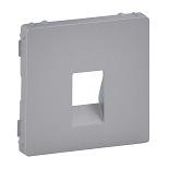 755362 - Лицевая панель для одиночной аудиорозетки с пружинными зажимами Legrand Valena Life (алюминий)