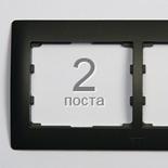771202 - Рамка 2-постовая, горизонтальный  монтаж, Legrand Galea Life (темная бронза)