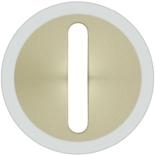 066277 - Лицевая панель для выключателя/переключателя с тонкой клавишей (контурная подсветка), Легранд Селиан (слоновая кость)