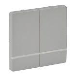 754772 - Лицевая панель для выключателя-радиоприемника 2-канального Легранд Валена Лайф (алюминий)