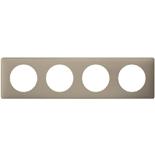 066724 - Рамка 4-постовая Legrand Celiane, прямоугольная, 303х82мм (грэй перкаль)