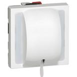 077044 - Выключатель кнопочный перекидной со шнуром, 2-модульный, Legrand Mosaic, 6А (белый)