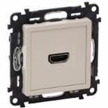 753271 - Розетка HDMI 1.3 для аудио/видео устройств, тип А, Legrand Valena Life (слоновая кость)