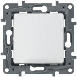 672210 - Выключатель (кнопка) без фиксации с подсветкой Legrand Etika Plus (белый)