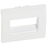 777075 - Лицевая панель Legrand Galea Life для телефонной/информационной розетки (RJ11/RJ45), на 1 или 2 разъёма, с держателем этикеток, белая
