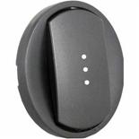 067903 - Лицевая панель для выключателя/переключателя с подсветкой, Legrand Celiane (графит)
