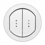 067804 - Лицевая панель влагозащищенный для двойного выключателя Legrand Celiane IP44