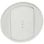 068003 - Лицевая панель для выключателя/переключателя с подсветкой, Легранд Селиан (белая)