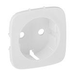 755255 - Лицевая панель для силовой розетки 2К+З с зажимами Legrand Valena Allure (белая)