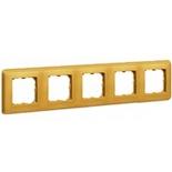 773665 - Пятиместная рамка, Legrand Cariva (матовое золото)