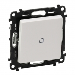752007 + 665090 + 755100 - Выключатель-переключатель перекрестный с подсветкой Legrand Valena Life (белый)