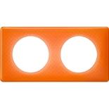 066652 - Рамка 2-постовая Legrand Celiane, прямоугольная, 161х82мм (оранжевый муар)