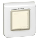 078880 - Рамка IP 44, 2-модульная, антибактериальная, Legrand Mosaic (белая)