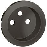 067912 - Лицевая панель для розетки французский стандарт, Legrand Celiane (графит)