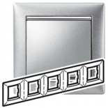 770335 - Рамка 5 постов Legrand Valena (Матовый алюминий)