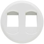 068212 - Лицевая панель для двойной розетки для колонок, Legrand Celiane (белая)
