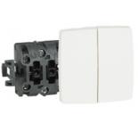 086120 - Выключатель-переключатель Legrand Oteo двойной 10A (без коробки)
