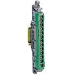 004834 - Клеммная колодка 1х6-25мм²+12х1.5-16мм², Легранд (зеленая)