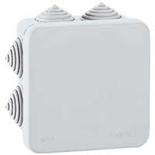 092127 - Коробка распределительная IP55 (влагозащищённая) квадратная, 80х80х45 мм, 7 кабельных вводов (с уплотнителями),  Legrand Plexo