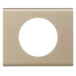 069111 - Рамка однопостовая Legrand Celiane, прямоугольная, 100х82мм, металл (никель велюр)