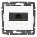 777075 + 775765 - Розетка Ethernet (интернет) RJ45 одинарная, 5e-категория Legrand Galea Life (белый), на захватах