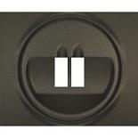 771200 - Лицевая панель для простой акустической розетки Legrand Galea Life, тёмная бронза