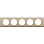 069120 - Рамка 5-постовая Legrand Celiane, прямоугольная, 384х82мм, металл (никель велюр)