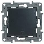 672603 - Выключатель Legrand Etika одноклавишный с подсветкой/индикацией (антрацит)