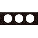 069453 - Рамка 3-постовая Legrand Celiane, прямоугольная, 242х83мм, кожа (блэк пиксел)