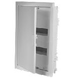 001432 - Щиток встраиваемый, 2 рейки, 24+4М, Legrand Nedbox (плоская металлическая белая дверь)