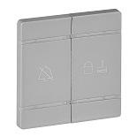 754932 - Лицевая панель с символами «НЕ БЕСПОКОИТЬ» и «УБРАТЬ НОМЕР» для механизма управления BUS/SCS Legrand Valena Life (алюминий)
