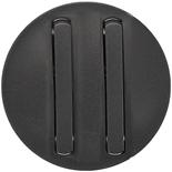 065202 - Лицевая панель для двойного выключателя/переключателя с тонкими клавишами, Legrand Celiane (графит)